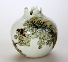 Chinese famille Rose Porcelain jar,wo-character Yu Qin mark on one base.