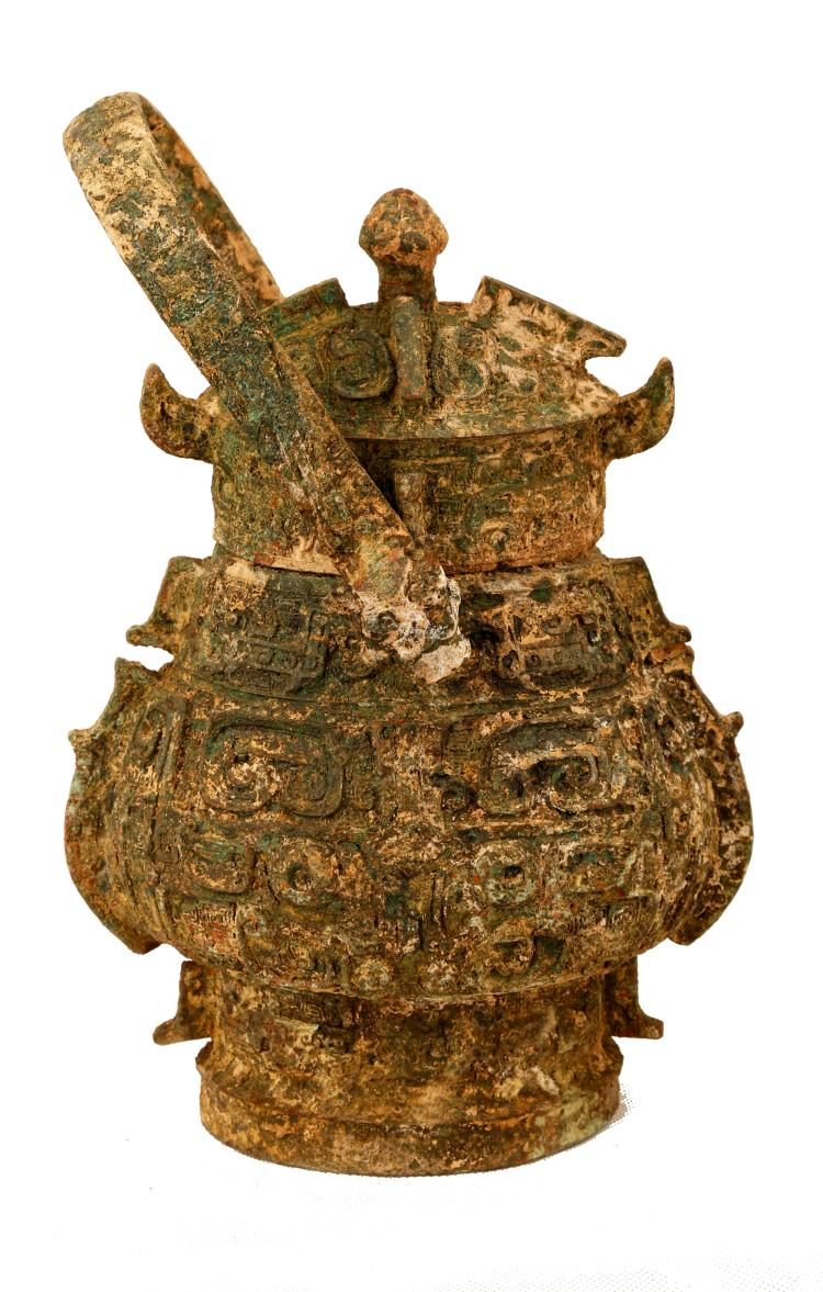 Gainesville Luxury Designer Home: A BRONZE YOU-FORM POT.WARRING STATES STYLE.J085