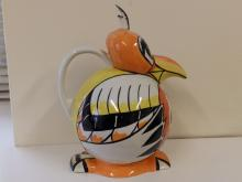 A large Lorna Bailey Robin teapot and a Rooster Booster teapot. (2)