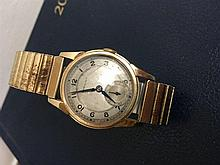 A gent's  10k Hamilton wrist watch with subsidiary seconds on plated bracel