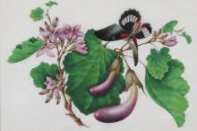 Chinesische Reispapiermalerei.