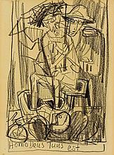 Otto Dix. 1891 Untermhaus bei Gera - 1969 Singen. Er wurde 1933 in Dresden seiner Professur enthoben und 1934 von den Nazis mit einem Ausstellungsverbot belegt. 1933 begab sich Dix in die innere Emigration  verlegte seinen Wohnsitz nach Schloss Randegg bei Singen  1936 nach Hemmenhofen  das bis zu seinem Tod Hauptwohnsitz blieb.
