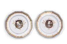 Zwei Kuchenteller aus dem Bayerischen Krönungsservice