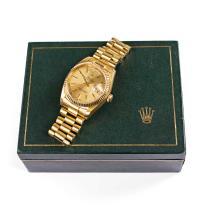 Goldene Rolex-Day-Date-Herrenarmbanduhr