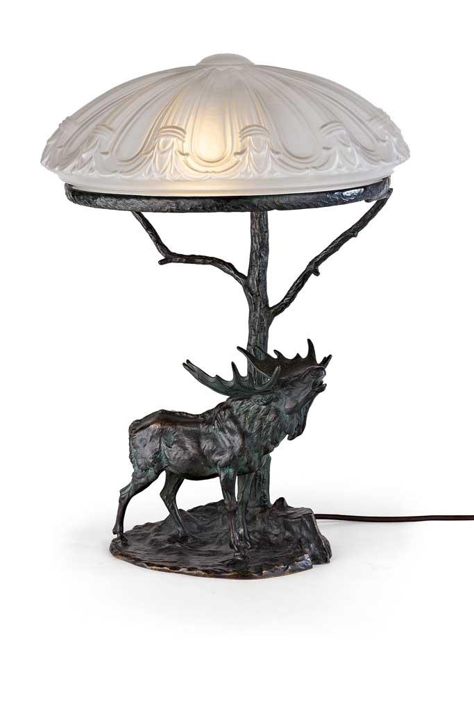 tischlampe aus bronze. Black Bedroom Furniture Sets. Home Design Ideas