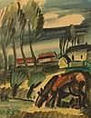 Carl Rabus. 1898 Kempten - 1983 Murnau. Studierte