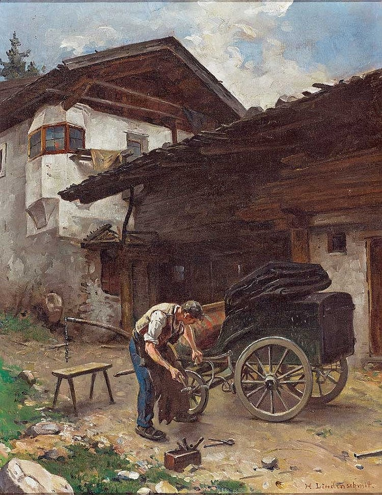 hermann lindenschmit 1857 frankfurt main 1939 m nchen wa. Black Bedroom Furniture Sets. Home Design Ideas