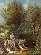 Eugène Lepoittevin. Sign. Wäscherinnen an einem
