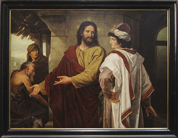 [Ecole hollandaise]. Jozef HOEVENAAR. - Jésus parmi les docteurs. / Jésus et le jeune homme riche.