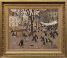 Emmanuel MEURIS. - La Place de la République française (temps gris).