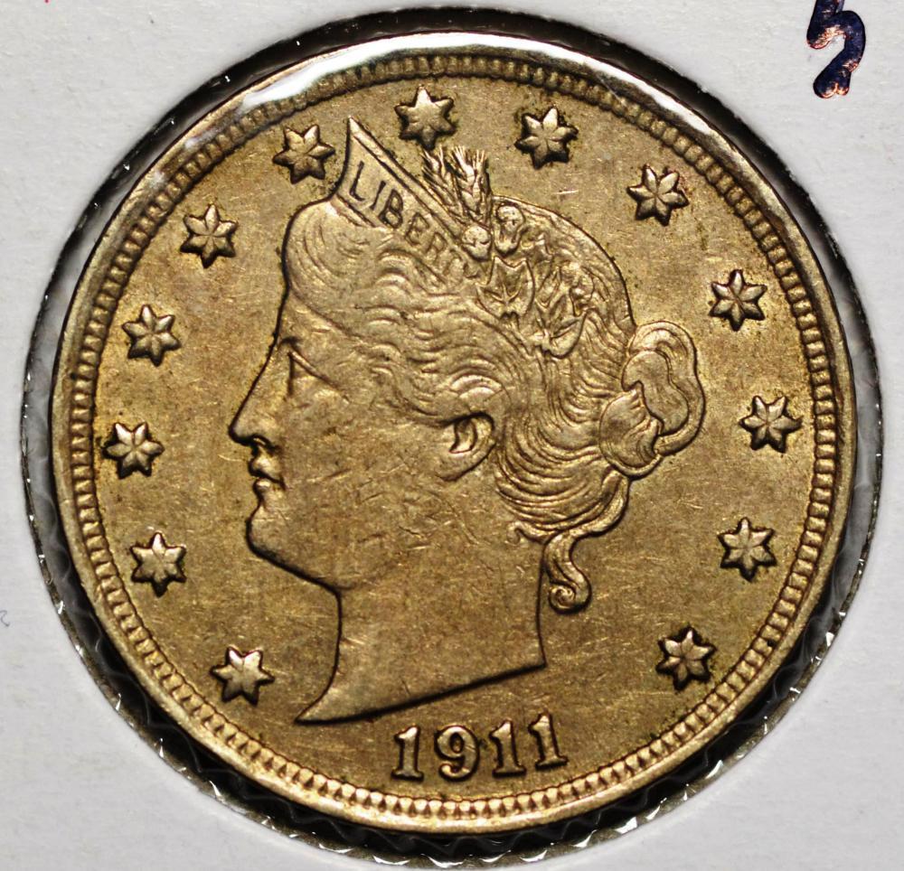 Lot 75: 1911 Liberty (V) Nickel
