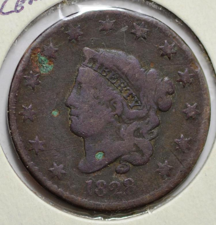 1824, 1828 & 1835 United States Large Cents