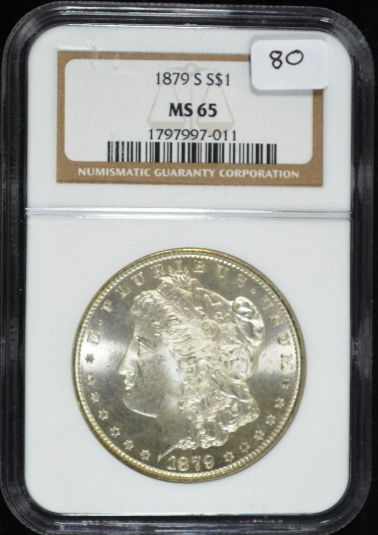 1879-S Morgan Silver Dollar MS-65 NGC