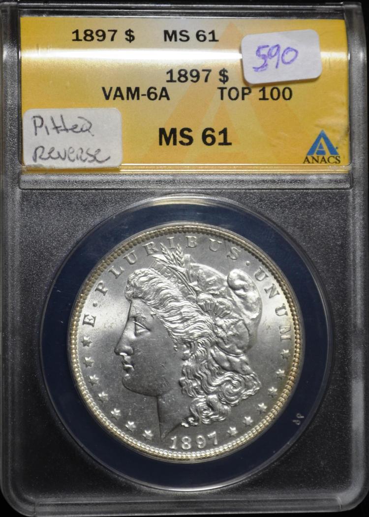 1897 Morgan Silver Dollar Vam-6a MS-61