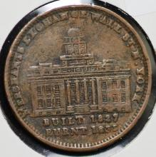1835 Hard Times Token Wall St