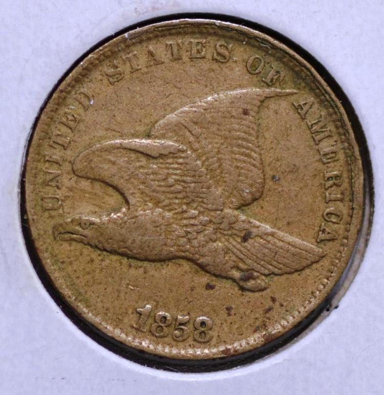 1858 Flying Eagle Cent S. L.