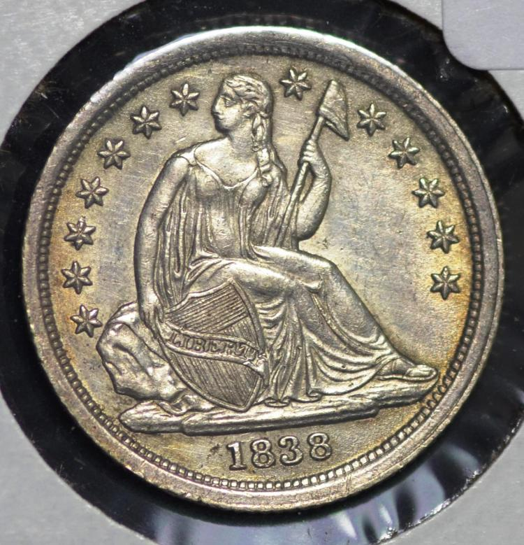 1838 Seated Liberty Dime Lg Stars