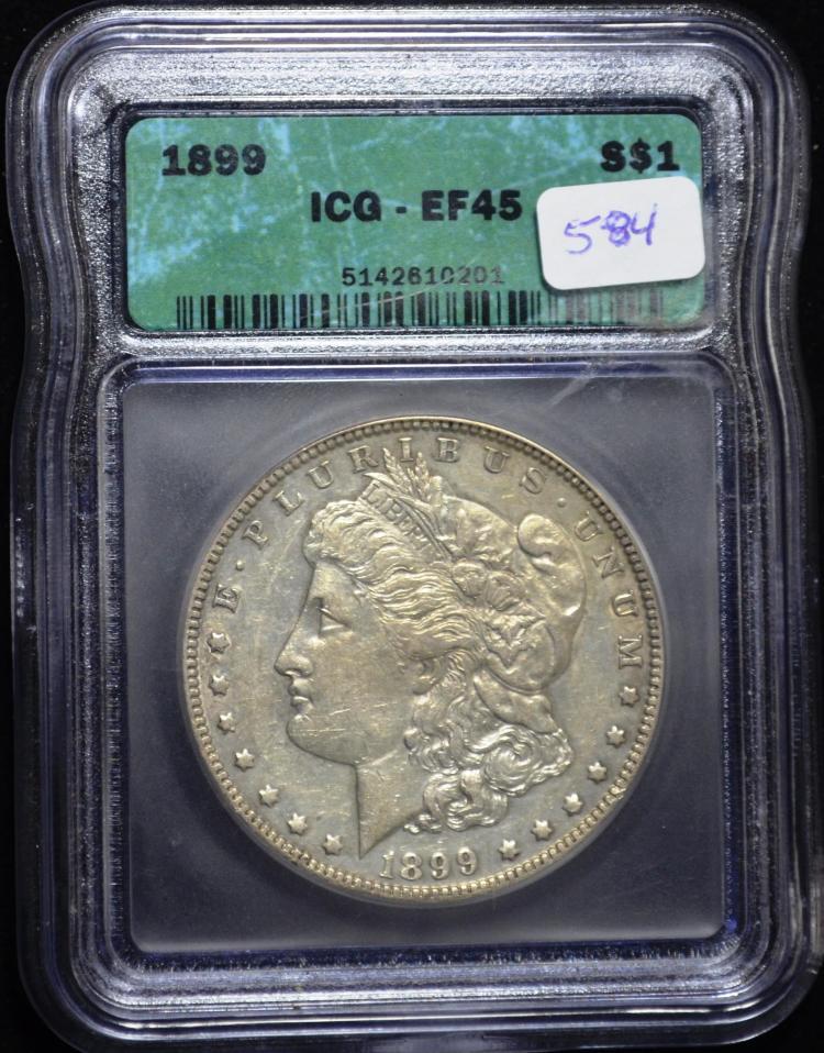 1899 Morgan Silver Dollar XF-45 ICG