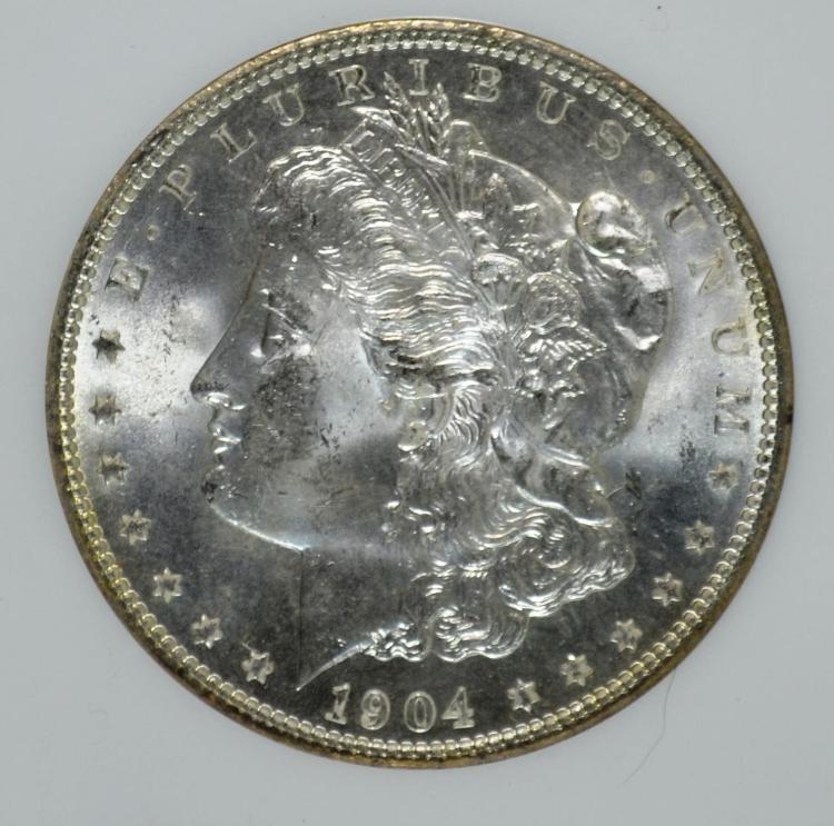 1904-O Morgan Silver Dollar MS-64 NGC