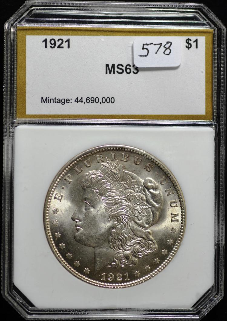 3 1921 Morgan Dollars PCI
