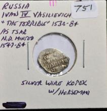 1530-84 Russian Wire Kopek