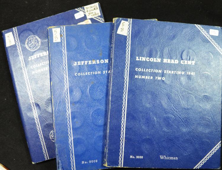 3 Book coin lot 2 Jefferson Nickel 1 Lincoln Cen