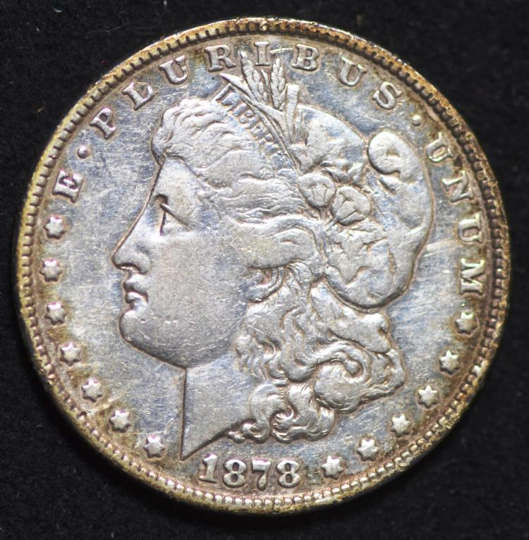 1878 8 Tail Feathers Morgan Silver Dollar