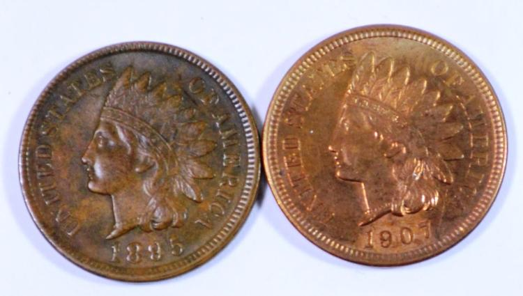 1895 & 1907 Indian Head Cents