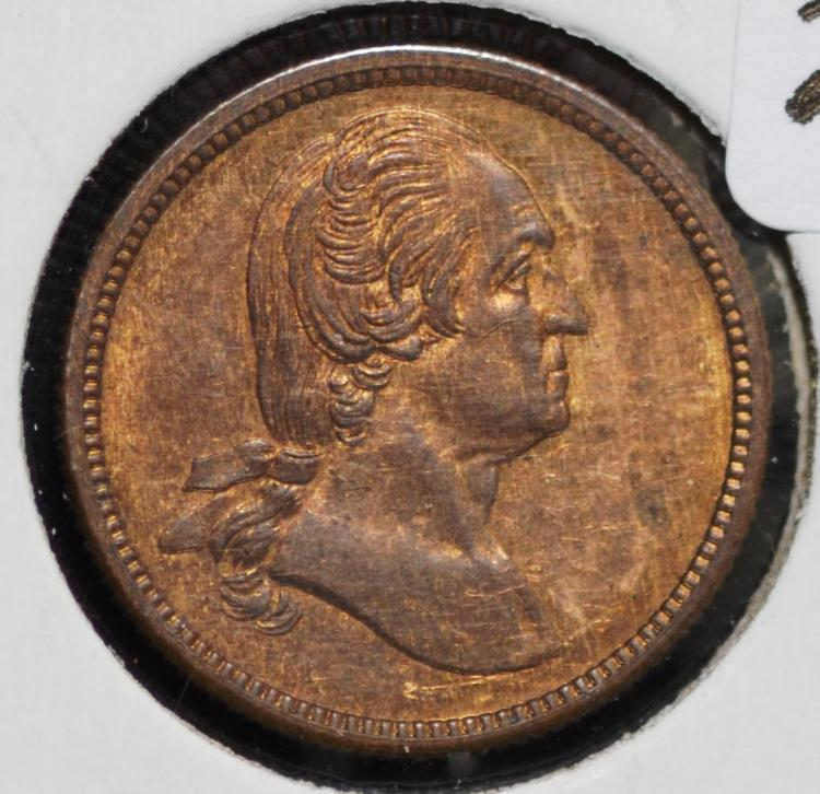 1864 George Washington Token Central Park Philly