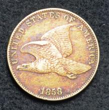 1858 Flying Eagle Cent L.L.