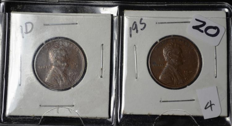 1919-D & 1919-S Lincoln Cents
