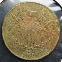 1866 2 Cent Piece