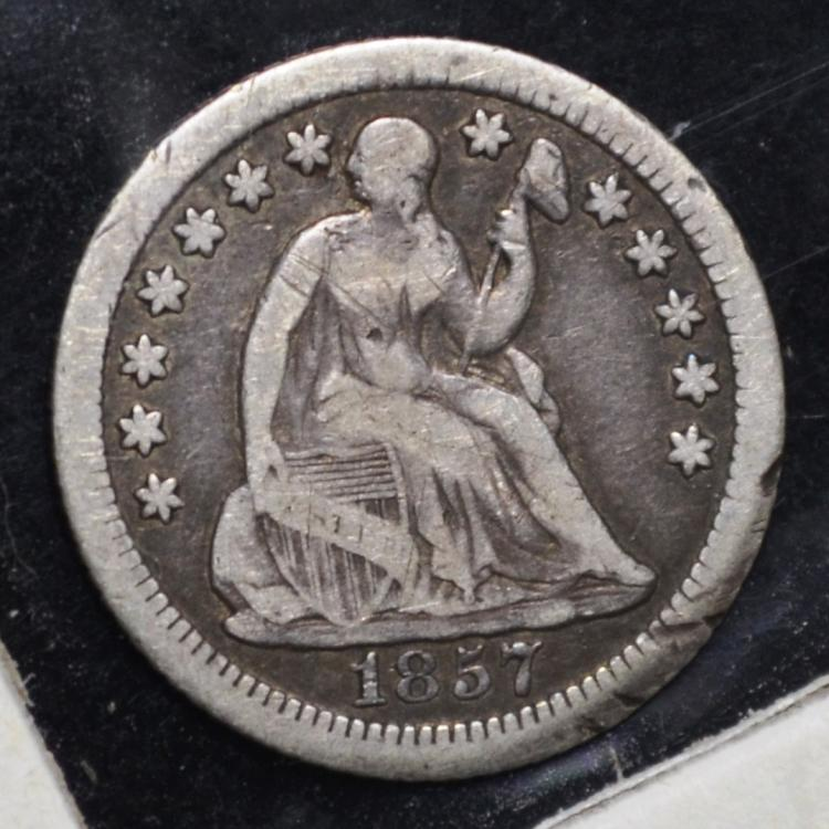 1857-O Seated Liberty Half Dime