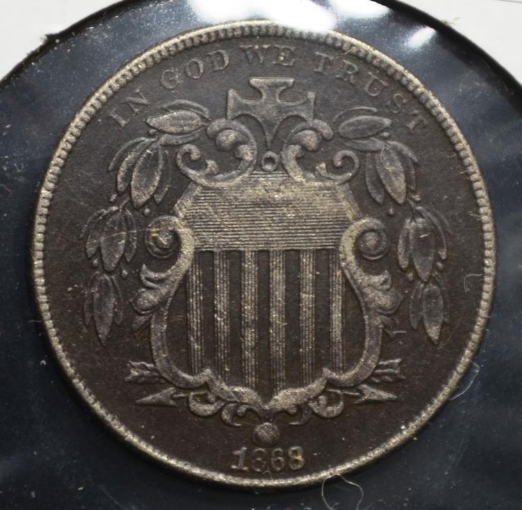 1868 Shield Nickel