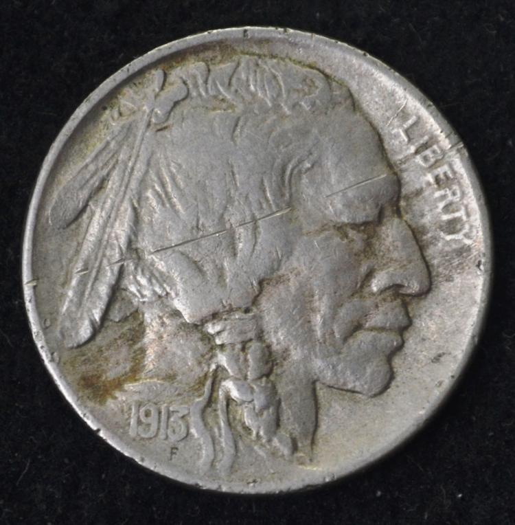 1913-D TY 1 Buffalo Nickel