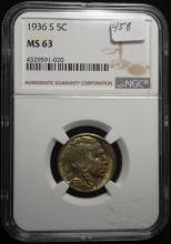 1936-S Buffalo Nickel MS63 NGC