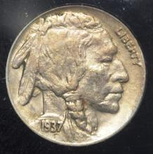 1937-D 3 Legged Buffalo Nickel