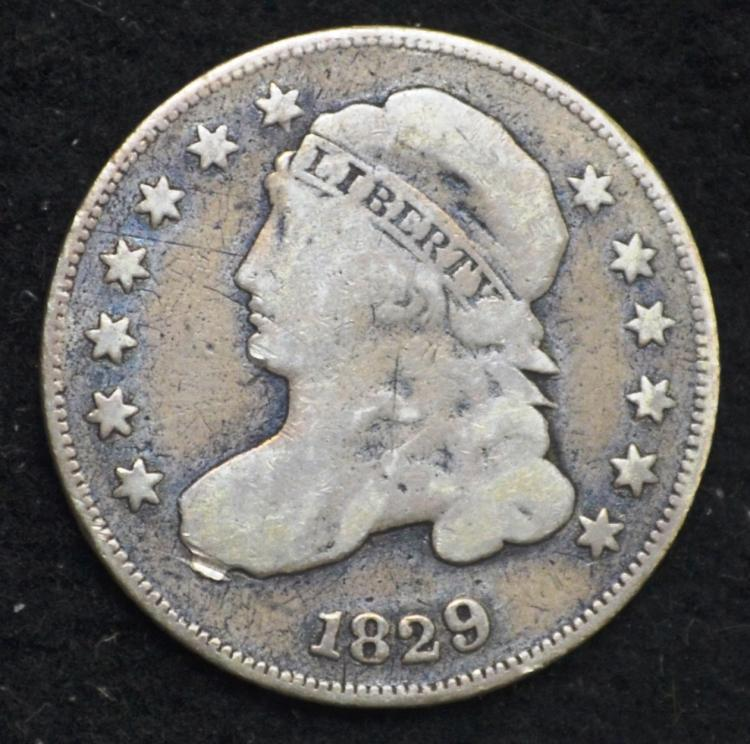 1829 Capped Bust Dime