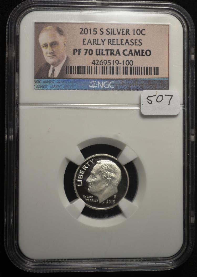 2015-S Silver Roosevelt Dime PF70 Ultra Cameo NGC