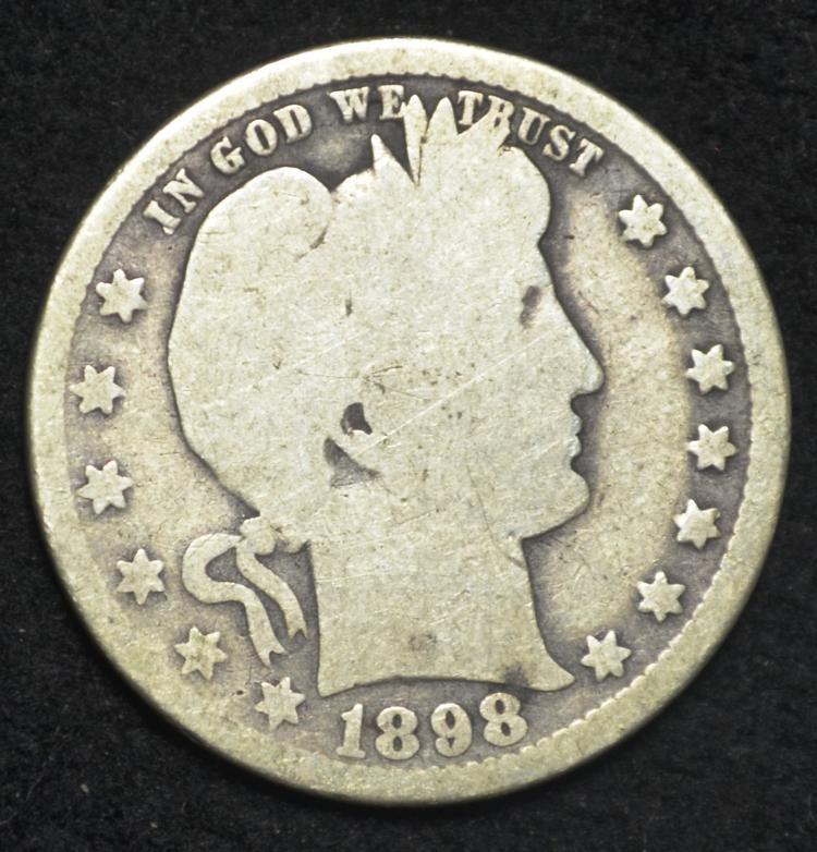 1898-O Barber Quarter
