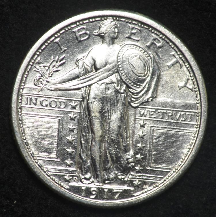 1917-D TY 1 Standing Liberty Quarter