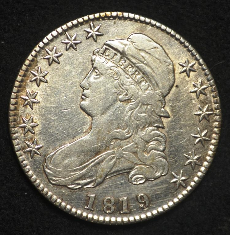 1819 Capped Bust Half Dollar 9/8