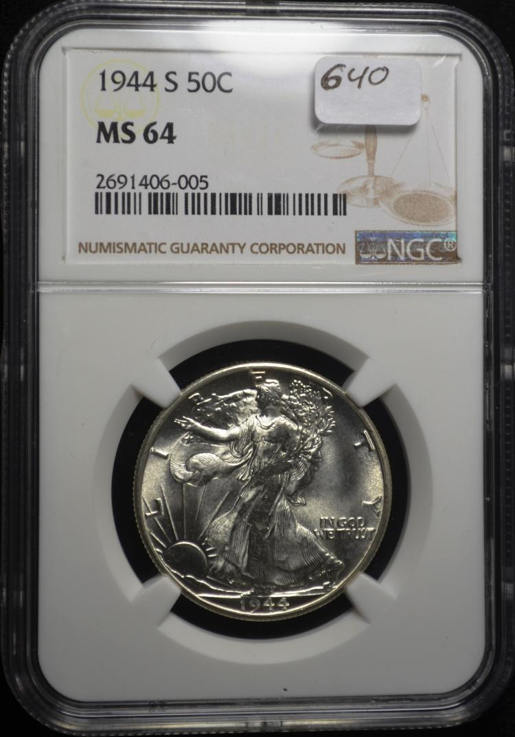 1944-S Walking Liberty Half MS64 NGC