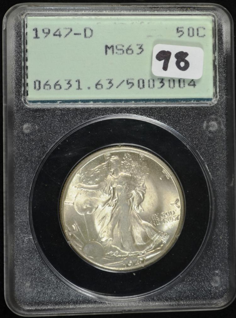 1947-D Walking Liberty Half Dollar PCGS