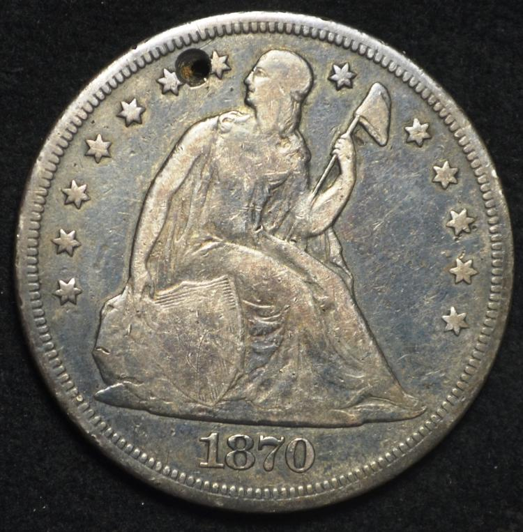 1870-CC Seated Liberty Dollar