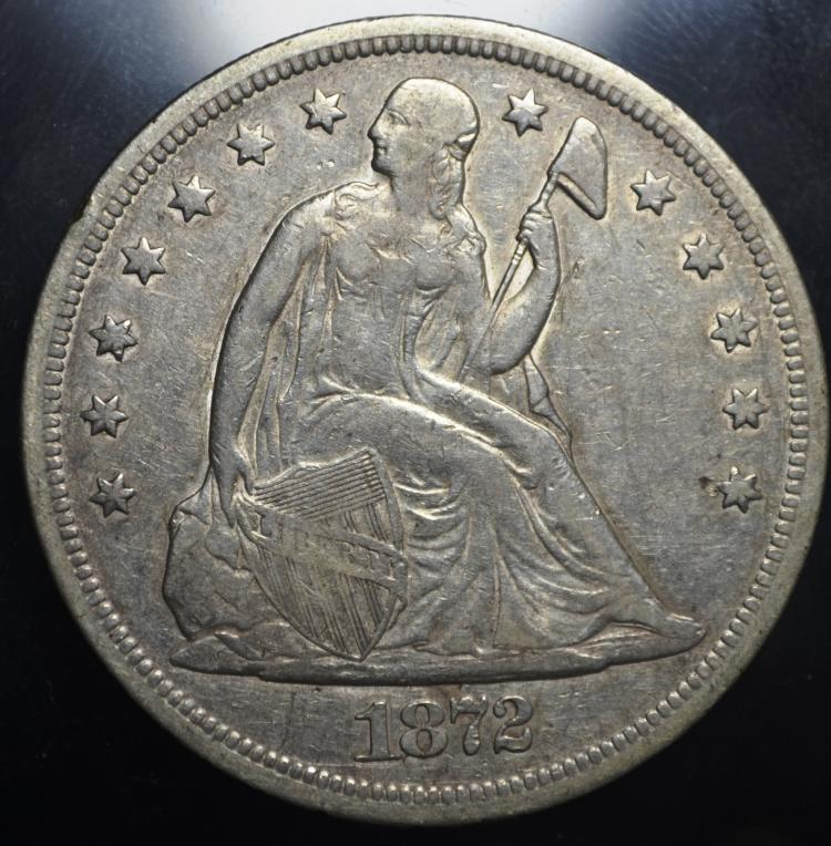 1872 Seated Liberty Dollar