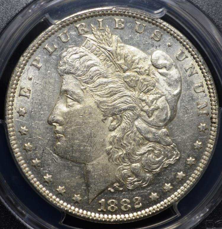 1882 Morgan Silver Dollar AU50 PCGS