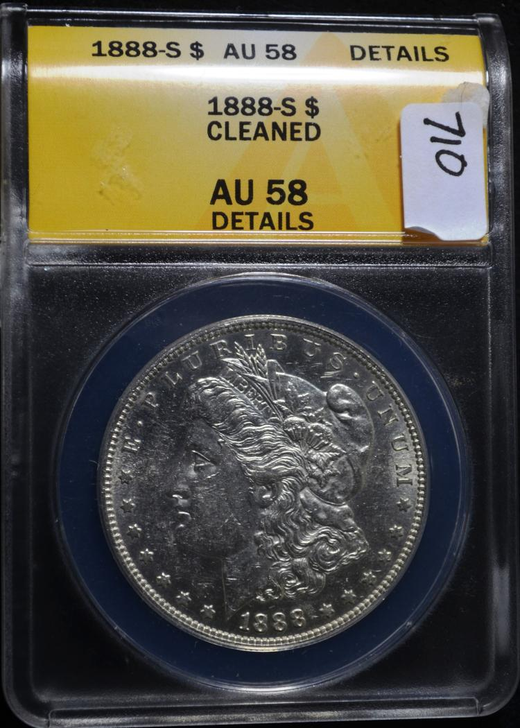 1888-S Morgan Dollar AU58 Details ANACS