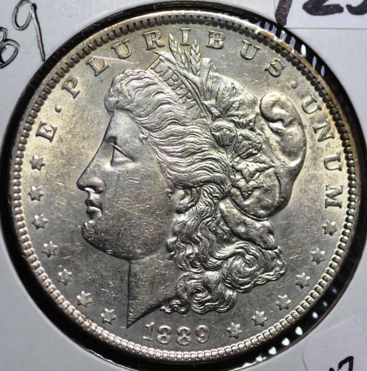 1889 & 1896 Morgan Silver Dollars