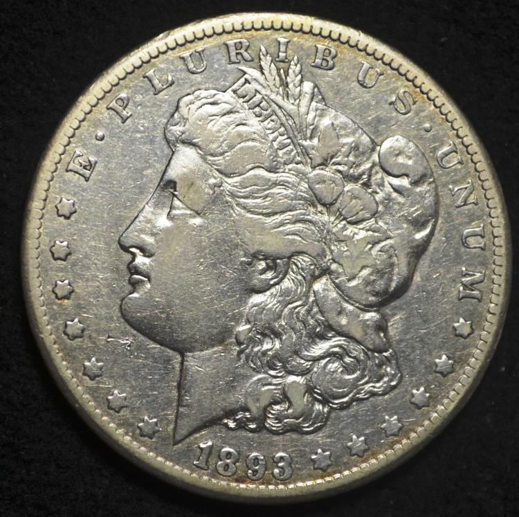 1893-CC Morgan Silver Dollar